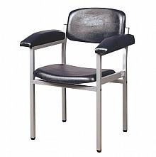 Servocomfort Blutentnahmestuhl grau-aluminium lackiert RAL 9007, mit Kunstlederbezug