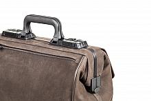 RUSTICANA Kleinformat Firma Dürasol® 2 Vortaschen, Wasserbüffelleder, braun