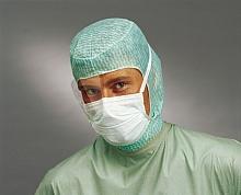 Chirurgenhaube ''Astronaut''; grün mit Bandverschluß; Packung a 100 Stück
