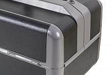 Ideal Kleinformat Firma Dürasol® Echtleder schwarz