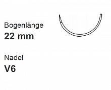 PROLENE BLAU MONOFIL EH7770H V6 USP4-0, 0,75cm Pack. a 36 Stk.