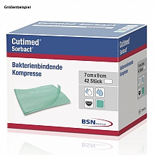 Cutimed® Sorbact® Saugkompressen steril 10x10cm; Pack. mit 42 Stück *NEU*