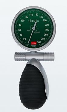 Bltdr.messgerät boso classic saturn GS Ø 60 mm, mit Klettenmanschette