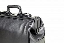 RUSTICANA Kleinformat Firma Dürasol® 2 Vortaschen, Feinrindleder, schwarz