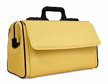 RUSTICANA Großformat Firma Dürasol® 2 Vortaschen, Feinrindleder, gelb