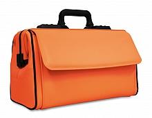 RUSTICANA Großformat Firma Dürasol® 2 Vortaschen, Feinrindleder, orange