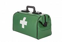 RUSTICANA Großformat Firma Dürasol® 2 Vortaschen, Feinrindleder, grün