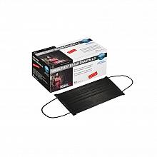 Mundschutz Black Dragon 2.0 schwarz mit Ohrschlaufen, Packung mit 50 Stück