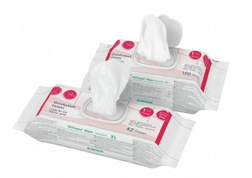 Meliseptol Wipes sensitive XL 42 Tücher a 24x30cm im FlowPack
