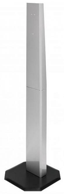 Hygiene Tower aus Edelstahl mit schwarz-pulverbesch. Grundplatte