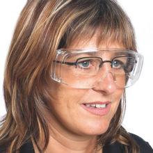 Mediware Schutzbrille Überbrille aus farblosem Polycarbonat