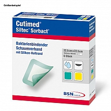 Cutimed® Siltec® Sorbact® 12,5x12,5cm; Pack. mit 12 Stück
